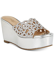 Thalia Sodi Jacklyn Slip-On Platform Wedge Sandals, Created for Macy's