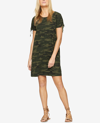 Sanctuary Cotton Camo-Print T-Shirt Dress