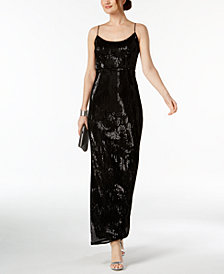 Adrianna Papell Sequined Gown, Regular & Petite Sizes