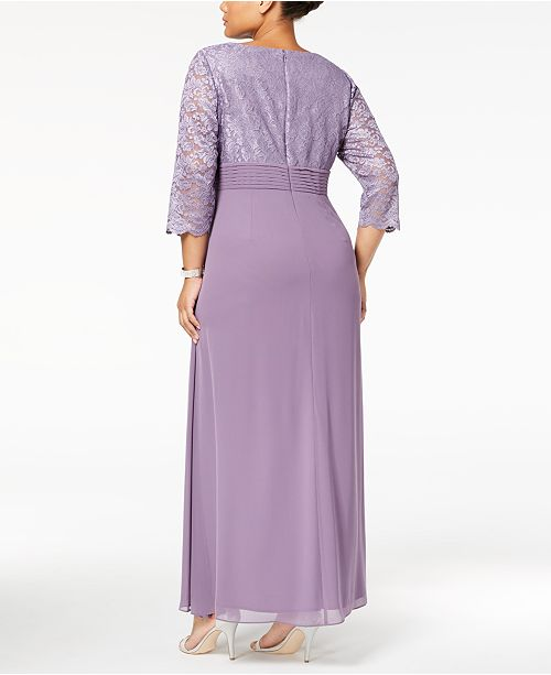 Gown Evenings Icy Orchid Embellished Plus Alex Lace Size 6vOKXx