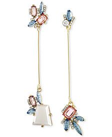 RACHEL Rachel Roy Gold-Tone Mismatched Stick Drop Earrings