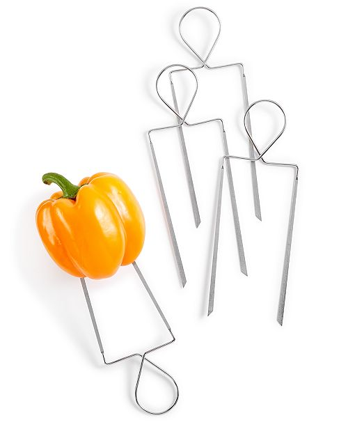 Martha Stewart Collection 4-Pc. Stainless Steel Veggie Skewers, Created for Macy's