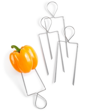 Image of Martha Stewart Collection 4-Pc. Stainless Steel Veggie Skewers, Created for Macy's