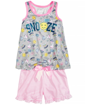 Max  Olivia 2Pc Snooze Pajama Set Little Girls  Big Girls