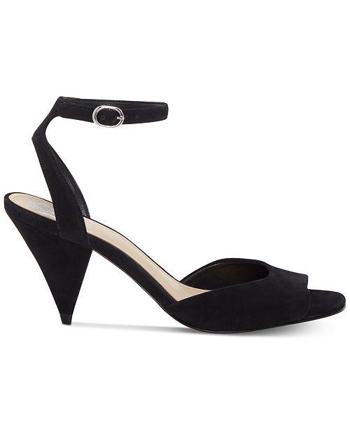 Vince Camuto Benatta Cone-Heel Dress Sandals, Created for Macy's Women's Shoes