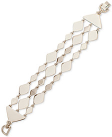 DKNY Gold-Tone Sculptural Triple-Row Flex Bracelet, Created for Macy's