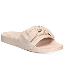 I.N.C. Women's Knotted Slide Slippers, Created for Macy's