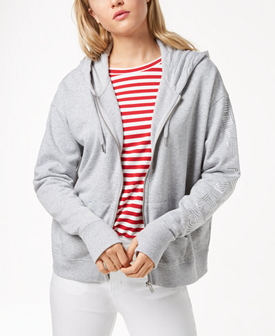 Tommy Hilfiger Sport French Terry Logo-Sleeve Hoodie, Created for Macy's