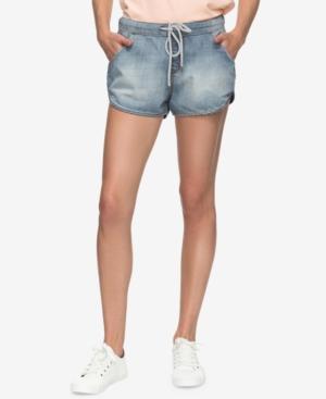 Roxy Juniors Music Never Stop Denim Shorts