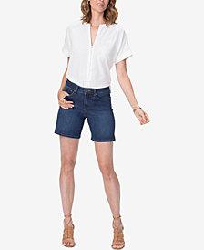 NYDJ Jenna Tummy-Control Denim Shorts