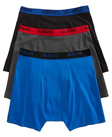 Men's Big & Tall Cotton Boxer Briefs 3-Pack, Created for Macy's