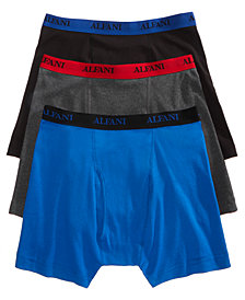 Alfani Men's Cotton Boxer Briefs 3-Pack, Created for Macy's