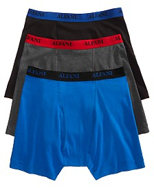 Alfani Men's Big & Tall Cotton Boxer Briefs 3-Pack, Created for Macy's