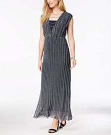 Love Scarlett Petite Striped Chain-Detail Maxi Dress, Created for Macy's