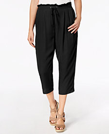 John Paul Richard Petite Ruffle-Waist Cropped Soft Pants