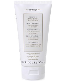 KORRES Greek Yoghurt Foaming Cream Cleanser, 5.07 fl oz.