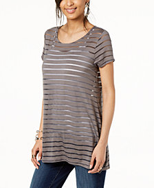 I.N.C. Illusion-Striped Top, Created for Macy's