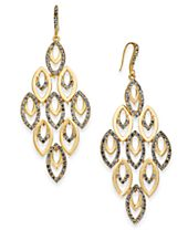 I.N.C. Gold-Tone Polished & Pavé Chandelier Earrings, Created for Macy's