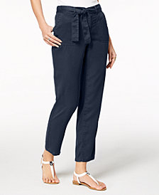 Style & Co Tie-Belt Pants, Created for Macy's