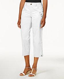 Style & Co Tab-Pocket Capri Pants, Created for Macy's