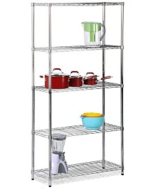Honey Can Do 5-Tier Heavy Duty Steel Shelving Unit