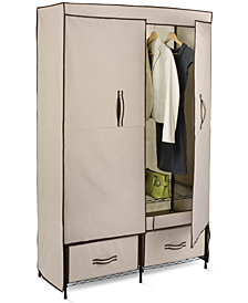 "Honey Can Do Portable Wardrobe Storage Closet, 43"" Wide"