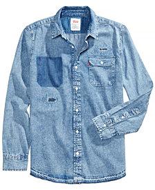 Levi's® Men's Slim-Fit Distressed Denim Shirt