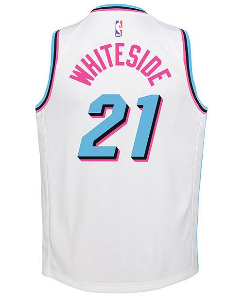 pretty nice fd342 42c87 Nike Hassan Whiteside Miami Heat City Edition Swingman ...