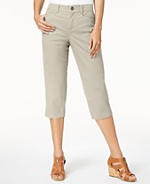 Women's Clothing Style & Co Cargo Capris 18 Olive In Short Supply