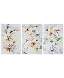 Madison Park Nectar Florals 3-Pc. Hand-Embellished Print Set