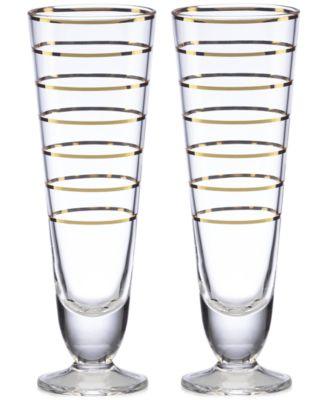 Melrose Avenue Pilsner Glasses, Set of 2