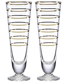 kate spade new york Melrose Avenue Pilsner Glasses, Set of 2