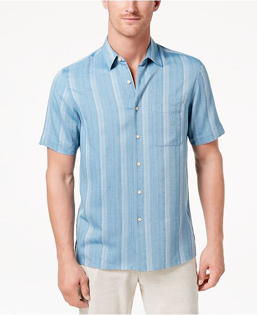 Tasso Elba Men's Casmara Dobby Shirt, Created for Macy's