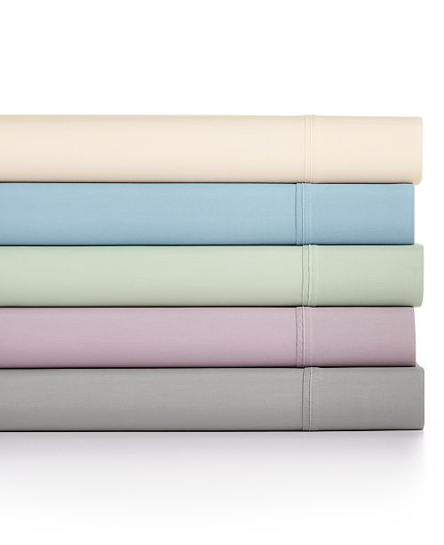 Sunham Bari 4-Pc  Solid Sheet Sets, 350 Thread Count Cotton Blend