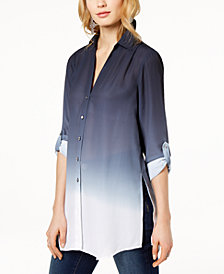 I.N.C. Petite Ombré Tunic, Created for Macy's