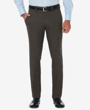 Men's Cool 18 Pro Slim-Fit Flat Front Stretch Dress Pants