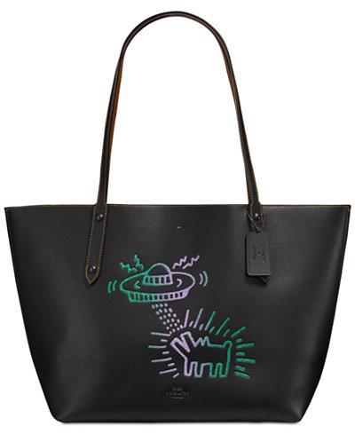 COACH Keith Haring UFO Dog Market Tote