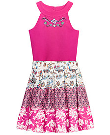 Beautees 2-Pc. Bodysuit & Skirt Set, Big Girls