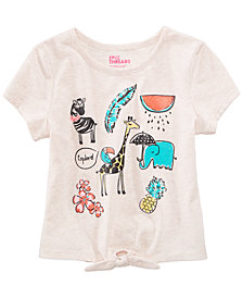 Epic Threads Safari Graphic-Print T-Shirt, Little Girls, Created for Macy's