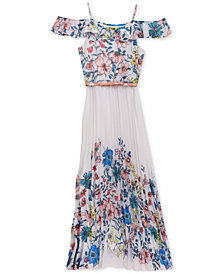 Rare Editions Floral-Print Maxi Dress, Big Girls