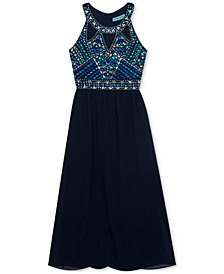 Rare Editions Embellished Maxi Dress, Big Girls