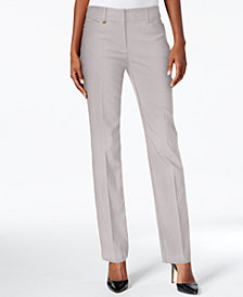 JM Collection Petite Tummy-Control Slim-Leg Pants, Created for Macy's