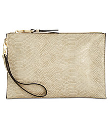 I.N.C. Molyy Snake-Embossed Party Wristlet Clutch, Created for Macy's