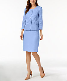 Le Suit Three-Button Jacquard Skirt Suit