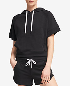 DKNY Sport Logo High Density Hooded Sweatshirt