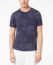 A|X Armani Exchange Men's Shashiko-Print T-Shirt