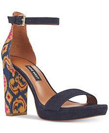 Nine West Dempsey Two-Piece Platform Sandals