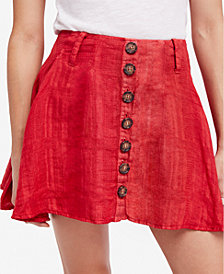 Free People Daze Away Linen Mini Skort