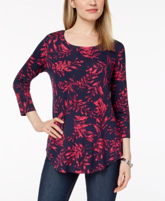 Image of JM Collection Printed T-Shirt, Created for Macy's