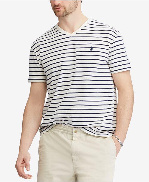 605fc55474ac Polo Ralph Lauren Men s Classic Fit Striped V-Neck T-Shirt   Reviews ...